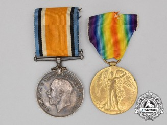 A First War Pair to Private Willan; Canadian Machine Gun Brigade