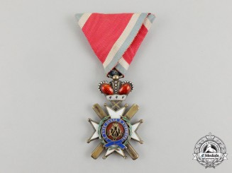 A Serbian Order of the Cross of Takovo; 4th Class (1878-1903), by G.A. Scheid