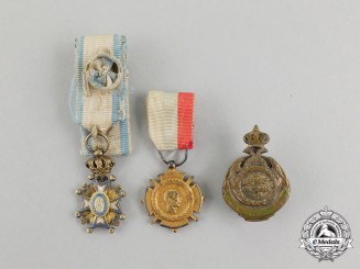 Three Serbian Miniature Awards/Medals