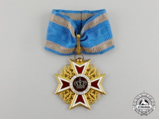A Romanian Order of the Crown of Romania, 3rd Class, Commander, Civil Division, Type I (1881-1932)