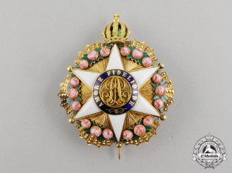 A Brazilian Order of the Rose in Gold, Grand Dignitary's (Commander's) Breast Star, c. 1850-1860