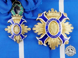 A Spanish Order of Civil Merit; Grand Cross Set Franco Era (1938-1975)