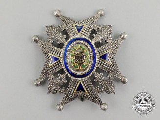 Spain, Kingdom. An Order of Charles III, Commander Breast Star by Number