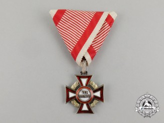 An Austrian Military Merit Cross with War Decoration; 3rd Class Cross