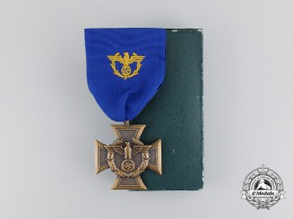 A Mint German Border Protection (Zollgrenzschutz) Long Service Award in Case