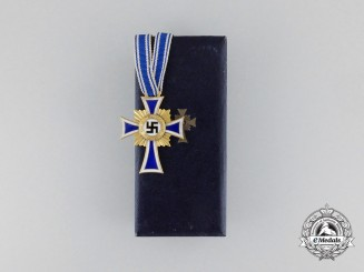 A 1st Class Cross of Honour of the German Mother by Poellath in Case