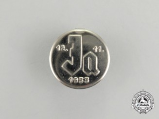 A 1935 Voting Badge