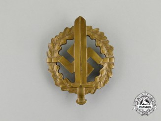 A Third Reich Period Bronze Grade SA Sports Badge by Karl Hensler of Pforzheim