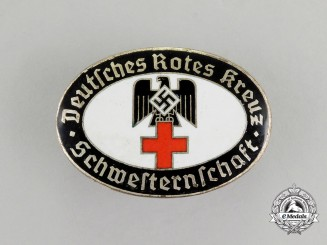 A Deutsches Rotes Kreuz Nurse's League Badge; Numbered
