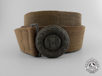 A 1941 Army Officer's Tropical Belt with Buckle
