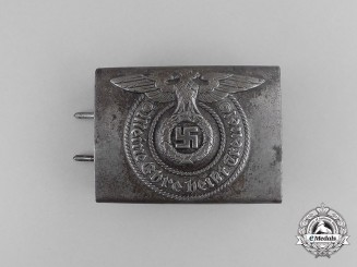 A Second War German Waffen-SS Enlisted Man's Belt Buckle by Josef Feix & Söhne