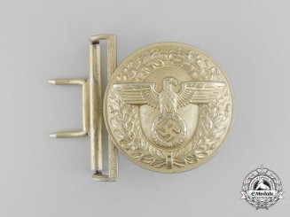 A NSDAP Political Leader's Brocade Dress Belt Buckle by Franke & Co of Lüdenscheid