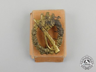 A Second War German Bronze Grade Infantry Assault Badge in Carton