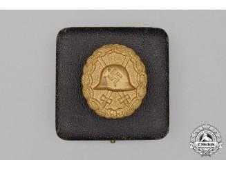 A Cased Third Reich Period German Condor Legion Gold Grade Wound Badge
