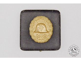 A Cased Third Reich Period German Condor Legion Gold Grade Wound Badge