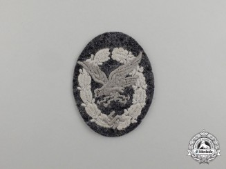 A Mint and Unissued Luftwaffe Radio Operator & Air Gunner Badge; Cloth Version
