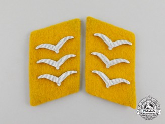 A Matching Set of Luftwaffe Feldwebel Rank Collar Tabs