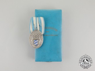 A 1930's Bavarian Industrial Faithful Service Medal in its Case of Issue