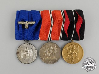 A Second War German Wehrmacht Long Service Medal Bar