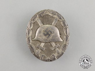 A Second War German Silver Grade Wound Badge by Official Mint of Vienna