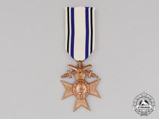 A Bavarian Military Merit Cross; 3rd Class with Swords