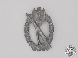 A Second War German Silver Grade Infantry Assault Badge by Gebrüder Weger