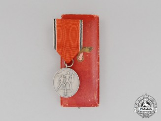 An Austrian Anschluss Commemorative Medal for March 13, 1938 in its Case of Issue