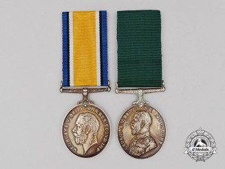 A First War Pair to Colour Sergeant Major; Canadian Machine Gun Brigade