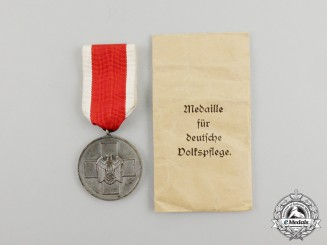A German Social Welfare Medal by the Official Vienna Mint in its Packet of Issue