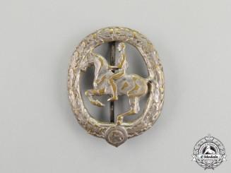 A Third Reich Period Silver Grade German Equestrian Badge by Christian Lauer