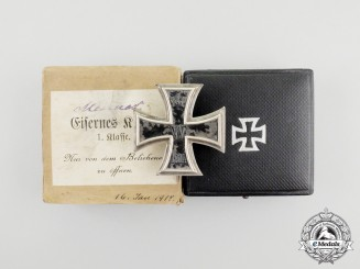 An Iron Cross 1914 First Class by the Royal Mint in its Case of Issue & Presentation Box