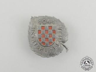 A 1941 Croatian Legion Membership Badge