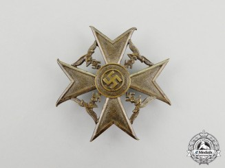 Germany. A Bronze Grade Spanish Cross with Swords by Paul Meybauer