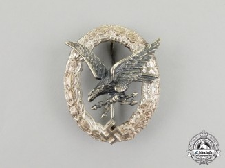 An Early War Quality Luftwaffe Radio Operator & Air Gunner Badge