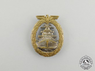 A Early Kriegsmarine High Seas Fleet Badge by Schwerin of Berlin