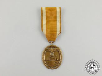 A Third Reich Period German Defence Wall (West Wall) Medal