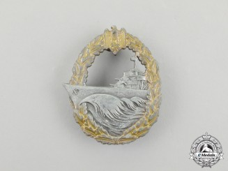 A German Kriegsmarine Destroyer War Badge by Sohni Heubach & Co.
