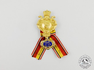 A Baden War Veteran's Association 25-Year Membership Badge by B.H Pforzheim