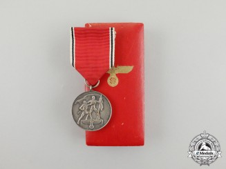 A Commemorative Anschluss of Austria Medal in its Case of Issue