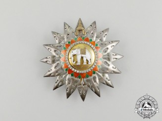 A Thai Order of the White Elephant, 1st Class Breast Star