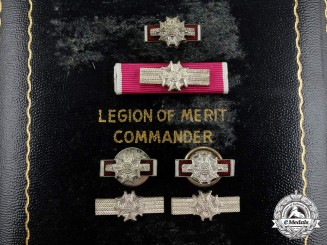 A Second War Case for the American Legion of Merit; Commander