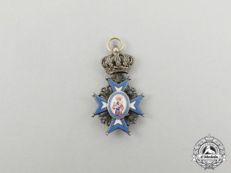 A Miniature Serbian Order of St. Sava; Type I