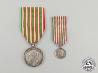 A 1859 Italian Independence Medal with Miniature