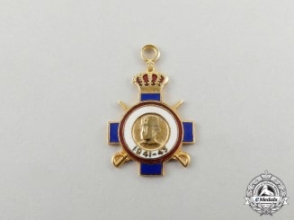 A Second War Period Issue Miniature War Cross in Gold