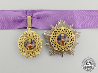 A Rare Order of Yugoslav Star with Golden Wreath