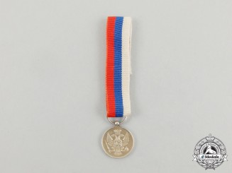 A Miniature Montenegrin Silver Bravery Medal