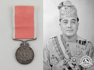 Kelantan, Sultanate. A Rare Sultan Ibrahim Coronation Medal, 1944