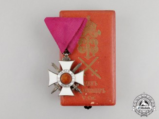 A Bulgarian Order of St. Alexander 5th Class with Swords