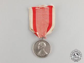 An Austrian Empire Silver Bravery Medal Franz Joseph I, Type II