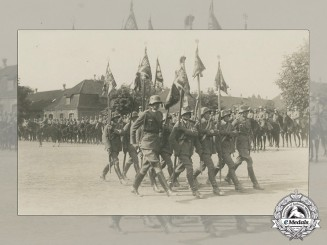 A Period Photo of Cavalry Unit  Flag Bearers